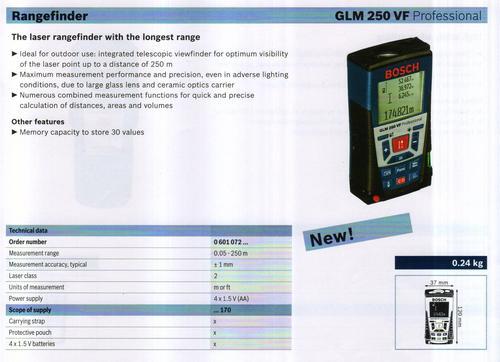 GLM 250 VF PROFESSIONAL
