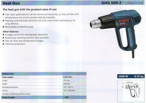 HEAT GUN ( GHG 500-2 Professional)