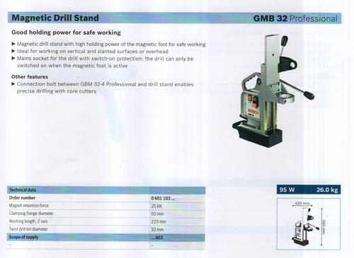 MAGNETIC DRILL STAND (GMB 32 professionals)