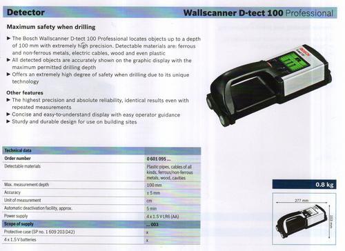 WALLSCANNERD-TECH 100 professional