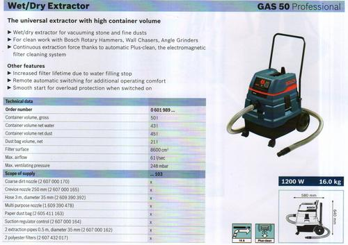 WET & DRY EXTRACTOR ( GAS 50 Professional)