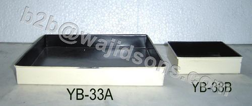 Square Tray Multipurpose Ivory Black
