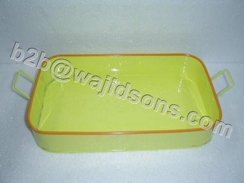 Rectangular Tray Yellow with handle