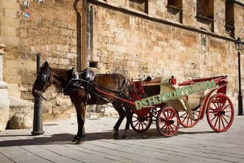 Wedding Red Victoria Carriages