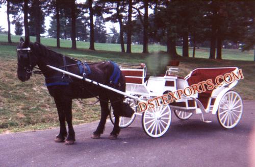 Wedding White Victoria Horse Baghi