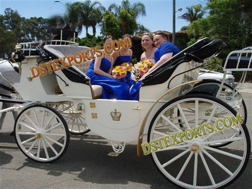 White Tourist Victoria Carriages