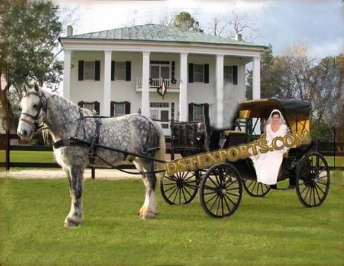 Black Beauty Wedding Carriage
