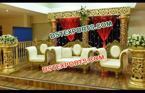 Latest Wedding Gold Stage Set