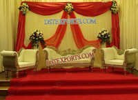 Beautiful Wedding Gold Sofa Set