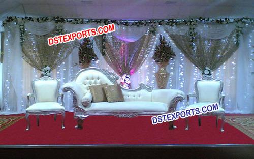 Asian Wedding Silver Italian Sofa