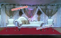 Asian Wedding Silver Italian Sofa