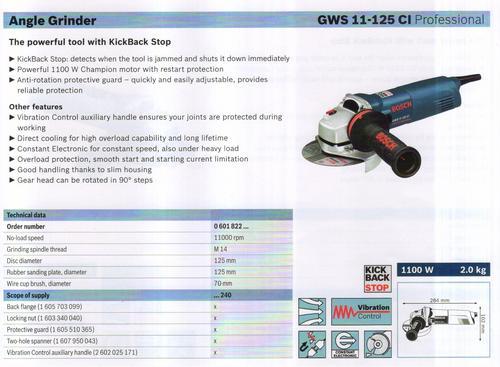 GWS 11-125 CI professional.
