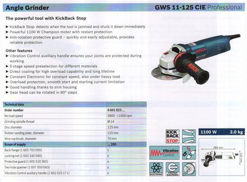 GWS 11-125 CIE professional