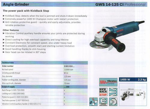 GWS 14-125 CI professional