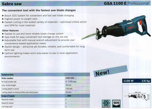 SABRE SAW ( GSA 1100 E Professional)
