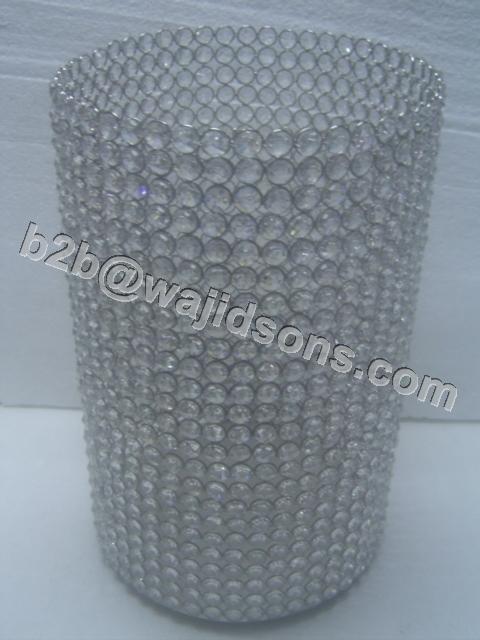 Round Tlite Holder Crystal