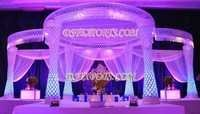 Latest  Fiber Crystal  Mandap  Set
