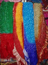 Bhandhani Silk And Cotton Scarfs
