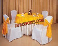 BANQUET HALL CHAIR COVER WITH ATTACH SASHAS