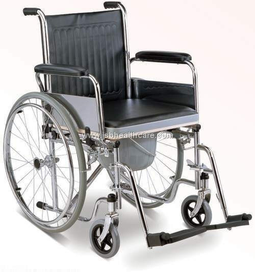 Folding Steel Wheelchair Imported with Commode