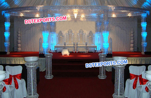 New Wedding Crystal Pillar Mandap