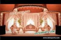 Indian Wedding Metal Crystal Mandap