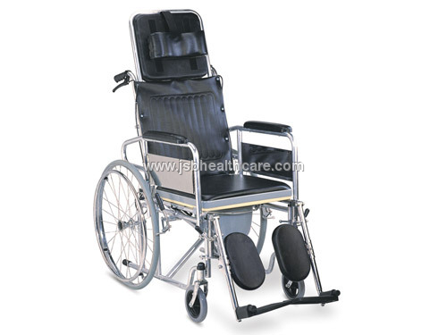 Folding Steel Wheelchair Imported with Recliner Ba