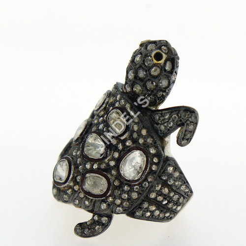 Pave Turtle Rings