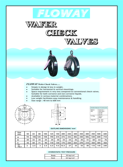 Wafer Check Valve Diagram