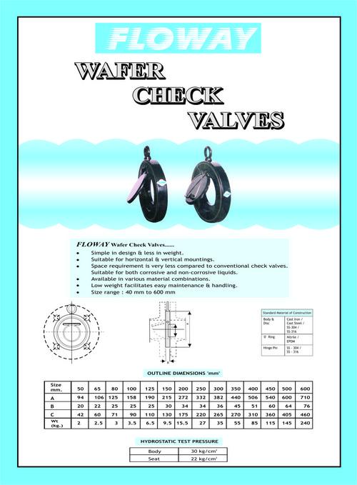 Wafer Check Valve Diagram