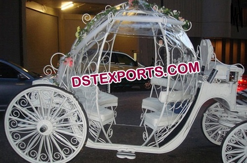 White Beauty Cinderalla Horse Carriage