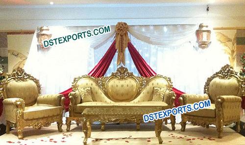 Asian Wedding Stage Love Furniture Set