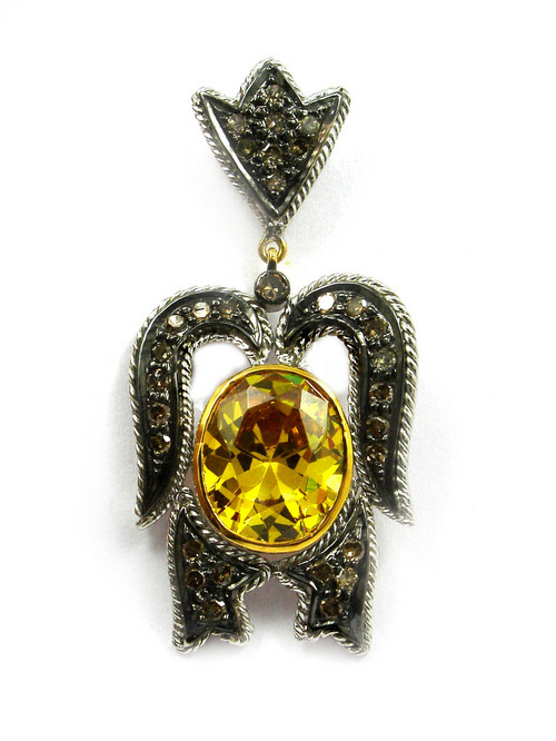 Real Diamond Victorian Pendant Set