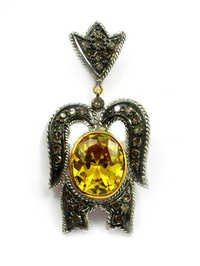 Real Diamond Victorian Pendant Set