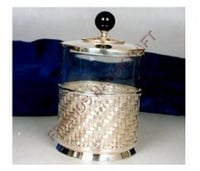 Brass and Glass Oval Box