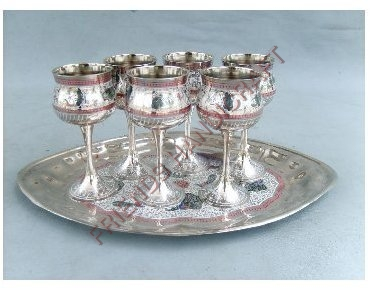 Brass  Goblet Set