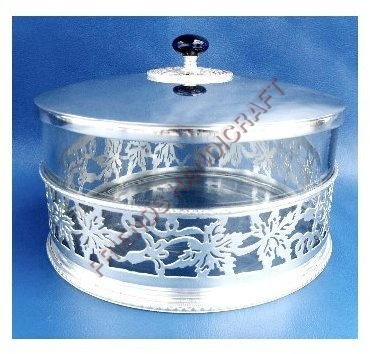 Brass Glass Leaf Box