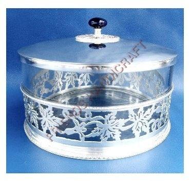 Brass Glass Leaf Box