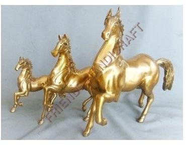 Brass Running Horse