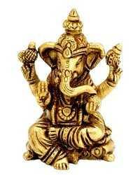 Brass ganesha shiva krishna statues