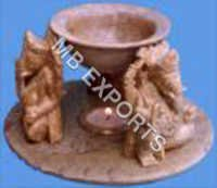 Marble oil burner
