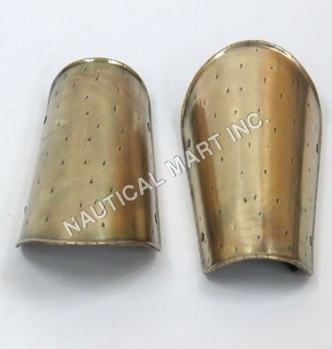 Spartan Brass Arm Guard set