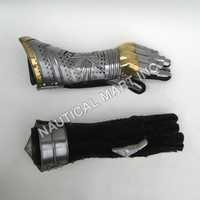 Medieval Armor Brass Gauntlet Pair Gloves
