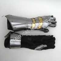 Armor Medieval Crusader Steel Gloves
