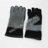 Chainmail Leather Gloves