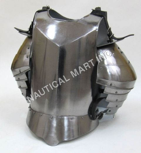 Medieval Armor Breast Plate With Shoulders Flute