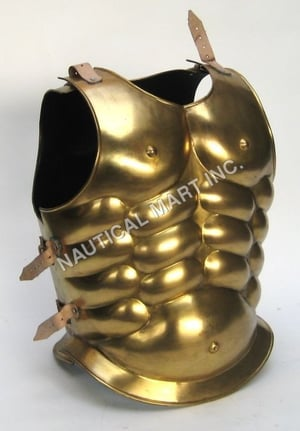 Medieval Brass Muscle Breastplate