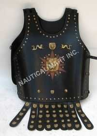 Roman Leather Armor Jacket Skirted