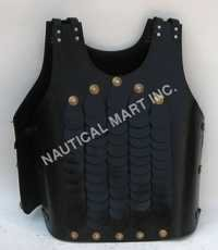 Armor Venue Black Leather Medieval Jacket