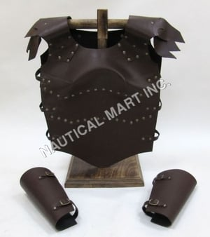 Leather Armor Brown Jacket